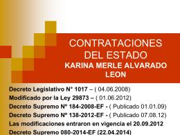 Nuevo Reglamento de la Ley de Contrataciones del Estado