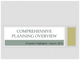 Comprehensive Planning Phase 3 Districts – Day 1