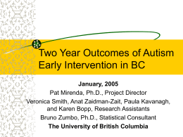 Outcomes of Autism Early Intervention Over 3 Years