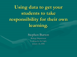 Using data to get your students to take responsibility for