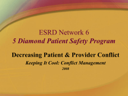 "MARC – Network 5 Patient Safety Program ""5 Diamond …"