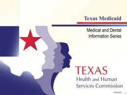Texas Medicaid Curriculum - Texas Tech University Health