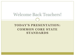 Common Core State Standards Smarter Balanced …