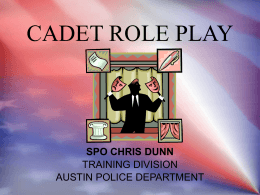 CADET ROLE PLAY - University of Texas at Austin