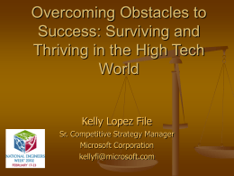 Overcoming obstacles to success: Surviving and Thriving in
