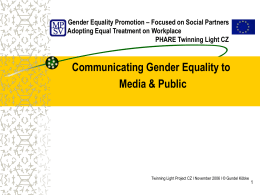 Gender Equality Promotion – Focused on Social Partners
