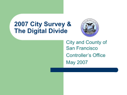 City Survey Methodology
