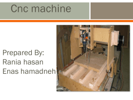 CNC Machines - An-Najah National University