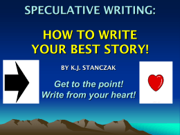 HOW TO: WRITING YOUR BEST SPECULATIVE ESSAY …