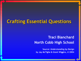 Crafting Essential Questions