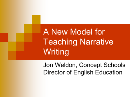 A New Model for Teaching Narrative Writing
