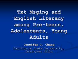 Text Messaging and English Literacy among Students