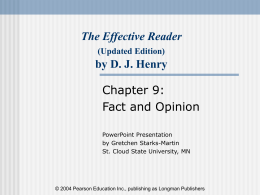 The Effective Reader by D. J. Henry