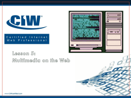 Lesson 5: Multimedia on the Web