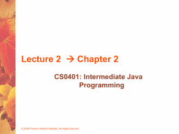 Lecture 2 Chapter 2 - University of Pittsburgh