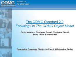 The ODMG Standard 2.0 Focusing On The ODMG Object …