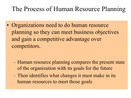 HUMAN RESOURCE PLANNING - CIIT VC Digital Library