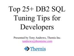 DB2 SQL & Application Programming