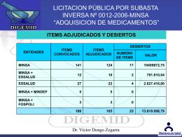Petitorio farmacologico Nacional