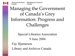 Managing Gray Information in the Government of Canada