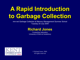 Garbage Collection - MM-NET