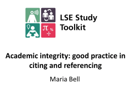 Academic Integrity II - London School of Economics