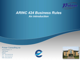 ARINC Business Rules