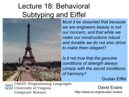Lecture 18 - University of Virginia