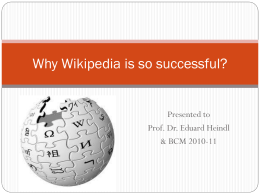 Why Wikipedia is so successful?