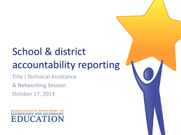 Accountability System and ESE Resources