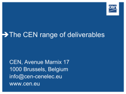 CEN deliverables ppt