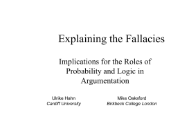 Classic argument fallacies revisited