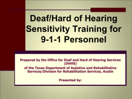 Deaf Awareness and Sensitive Training