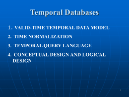 Temporal Databases - University of Technology