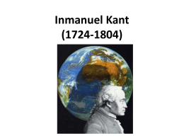 Inmanuel Kant (1724
