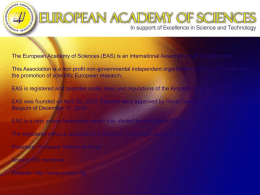 Diapositive 1 - European Academy of Sciences : News