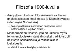 Filosofia 1900