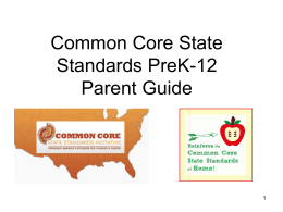 "UNDERSTANDING THE COMMON CORE (Or… ""What Now, …"