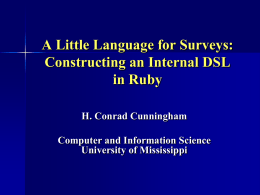 A Little Langugage for Surveys: Constructing an Internal