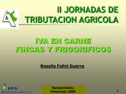 TRIBUTACION AGROPECUARIA