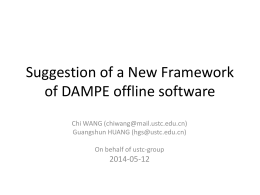 Framework of DAMPW software (DAMPE software)