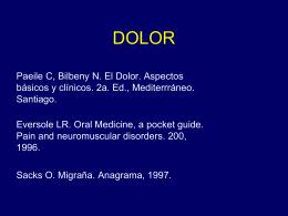 Dolor, neuralgias. 2009