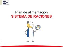 Plan de alimentación Sistema de Raciones