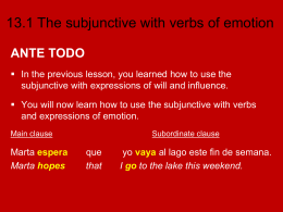 13.1 The subjunctive with verbs of emotion