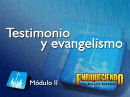 Testimonio y evangelismo