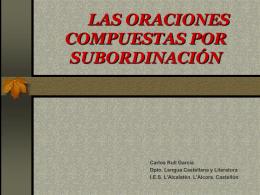 subordinación