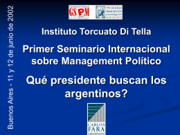 ¿Qué presidente quieren los argentinos?
