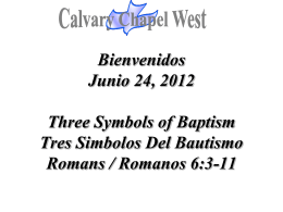Romans 6:3-4 - Calvary Chapel West