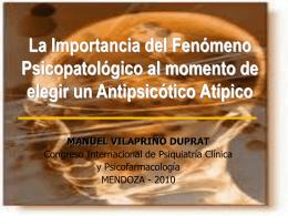 La Importancia del Fenómeno Psicopatológico al momento de II