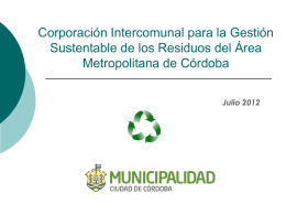 (CoRMeCor SA). - Municipalidad de Córdoba
